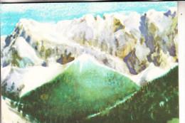 MONGOLIA / MONGOLEI - Künstler-Karte, Gebirgsgletscher - Mongolei