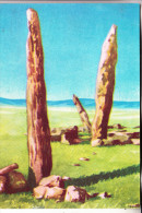 "MONGOLIA / MONGOLEI - Künstler-Karte, OUBOUR - ""Trois Idols"" - Mongolei"