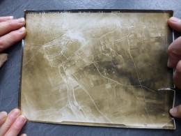 Guerre 14-18  Photo Aérienne DEMUIN  1918, Altitude 5000 M, Format 17X22; Ref 749 - Guerre, Militaire