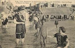 Depts Divers- Pas De Calais - Ref BB28 -  Le Portel - Sur La Plage A L Heure Du Bain - Baigneur - Baigneurs - - Le Portel
