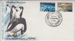AAT 1971 Antarctic Treaty 2v On FDC Macquarie Island  Ca 23 Nov 1971 (21077) - FDC