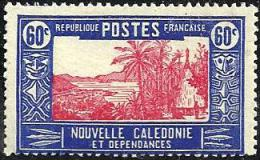 NEW CALEDONIA 60 CENTIMES BLUE PALM TREE LANDSCAPE OUT SET OF ? MUH 1930's SG356 READ DESCRIPTION !! - New Caledonia