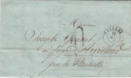 1859. LETTRE SUISSE. VAUD PAYERNE Pour ARVILLARD LA ROCHETTE SAVOIE. TAXE TAMPON 4. SIGNÉE GUIGUE GIVEL / 5733 - ...-1845 Prephilately