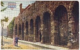 The Old Walls, Southampton Colour Postcard - Tucks - American Y.M.C.A. Logo - Southampton