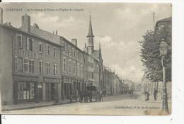 Lunéville  Faubourg De Nancy  Avec Coiffeur   Boucheri-Charcuterie    Et Attelage - Luneville