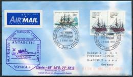 1999 Australia Antarctic Davis Aurora Australis Research Expedition Ship Cover - Covers & Documents