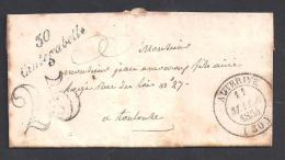Haute Garonne - Cursive 30 / CINTEGABELLE  Sur Lettre De 1854 - Marcophilie (Lettres)