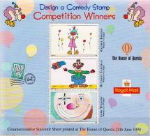 Great Britain Design A Comedy Stamp SS - Cinderellas
