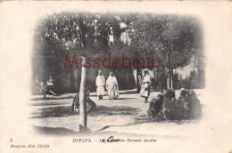 ALGERIE - DJELFA -  La Cour du Bureau Arabe - 1907 - 2 scans