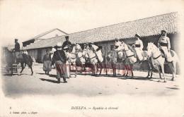 ALGERIE - DJELFA -  Spahis � cheval - 2 scans