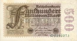 Deutschland, Germany - 500 Mio. Mark, Reichsbanknote, Ro. 109 A,  ( Serie C ) UNC- ( I- ), 1923 ! - [ 3] 1918-1933: Weimarrepubliek