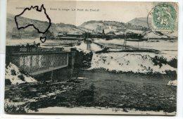 - BOGHARI - ( Alg�rie ), Sous la neige, Le Pont du Ch�liff, monture, peu courante, �crite en 1904, BE, scans