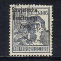 W1608 - GERMANIA DEMOCRATICA 1948,  12 Pf.  N. 186 Used : Soprastampa Spostata - Zone Soviétique