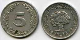 Tunisie Tunisia 5 Millim 1997 - 1418 KM 348 - Túnez