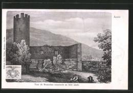 Cartolina Aoste, Tour De Bramafam Construite Au XIIe Siécle - Italia