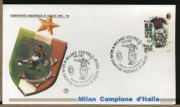 ITALIA  -   FDC  Filagrano    -  MILAN   Campione  D´Italia  1992-93 - Famous Clubs