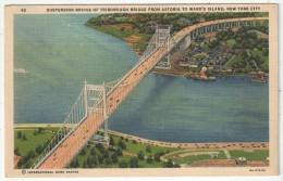 Suspension Bridge Of Triborough Bridge From Astoria To Ward's Island, New York City - Ponts & Tunnels
