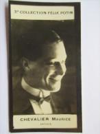 Maurice CHEVALIER   - Photo Bromure - 3ème  Collection (La Plus Rare) Felix Potin - Célébrités