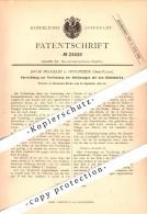 Original Patent - Jacob Meckelin à Hunawihr / Hunaweier , 1882 , Cadre De Lit !!! - Ribeauvillé