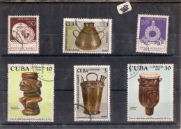 CUBA Lot De 6  Timbres Sur Le Thème :des ARTS POPULAIRES - Collections, Lots & Séries