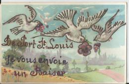 CPA - Superbe  Fantaisie - De Port Saint Louis , Je Vous Envoie Un Baiser - Carte Souvenir - - Francia