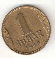 Yugoslavia  1  Dinar  1938   KM 19   Vf+ - Yugoslavia