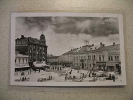 Croatia Osijek 1943. Tram Tramway Trolley Photopostcard - Croazia