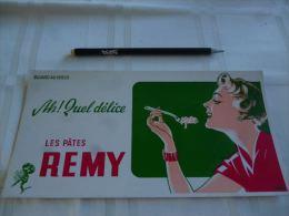AA2 Buvard Les Pâtes Remy Illustrateur Jvd Bergh (24x12) - Alimentaire