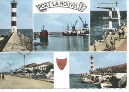 600 - PORT LA NOUVELLE - LE PHARE - LE PORT - LE PLONGEOIR - LE FRONT DE MER - LA JETEE  ( 5 VUES ) - Port La Nouvelle