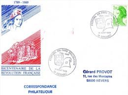 SEILHAC, 19 : TàD 1989 Festival En Pays Seilhacois 1789-1989 - FDC