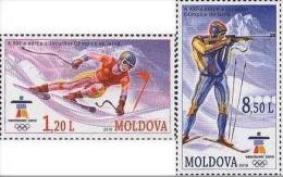 Moldova 2010 Olympics Vancouver Alpine Skiing And Biathlon Mi 689-690 MNH (**)