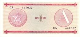 BILLET CUBA  1 PESO SERIES  A  UNC