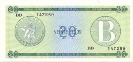 BILLET CUBA  20   PESOS   SERIES  B UNC