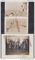 Au plus rapide Paquebot RMS Queen Elizabeth ensemble 3 photos travers�� atlantique * Beau format Peu courant