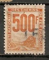 Timbres - France - Colis Postaux - 1944-1947 - S.N.C.F.-  500 F - Train -