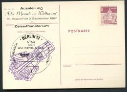 BERLIN P70 ZC8 Postkarte Zudruck MENSCH IM WELTRAUM ** 1967  NGK 6,00 € - Private Postcards - Mint