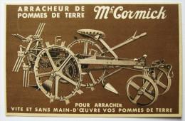"""SUPERBE CPA ARRACHEUR DE POMMES DE TERRE  """"  MC CORMICK"""",1931,  ,MATERIEL AGRICOLE,TRACTEUR,LIEUSE - Tractors"""