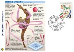 ALG Algeria N° 1666 Olympic Games Algerian Olympic Committee Rhythmic Gymnastics - Gymnastics