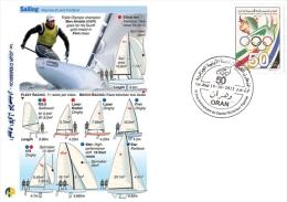 ALG Algeria N° 1666 Olympic Games Algerian Olympic Committee Sail Sail Sports Yacht Sailling - Summer 2012: London