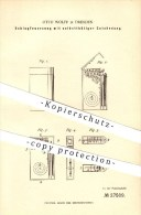 Original Patent - Otto Wolff In Dresden , 1883 , Schlagfeuerzeug Mit Selbsttätiger Entzündung , Feuerzeug !!! - Feuerzeuge