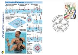 ALG Algeria N° 1666 Olympic Games Algerian Olympic Committee Synchronized Swimming - Summer 2012: London