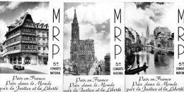 54Ace  Lot De 3 Cp Parti Politique MRP M.R.P. 5eme Congrés Stasbourg - Partis Politiques & élections