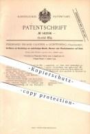 Original Patent - Ferdinand E. Ullstein In Lichtenberg I. Bayern , 1902 , Mosaik- Oder Marmormustern Auf Blech ! - Autres