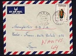 A5263 GABON 1980, Cover Oyem To France - Gabon