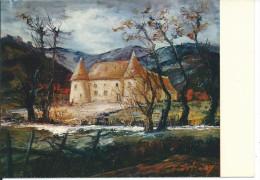 CP SAINT-RACHO 71, Château De Chevannes (Peinture De Colette Du Barry) - France