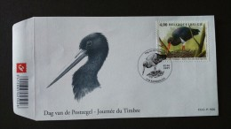 BUZIN - Cigogne Noire Sur Fdc Timbre Numéro 3388 - 2001-10