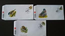 BUZIN - Mésange Nonnette , Pigeon Ramier, Roitelet Triple-bandeau Sur Fdc Timbre Numéro 3389/91 - 2001-10