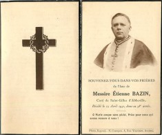 GENEALOGIE SOUVENIR MORTUAIRE FAIRE PARTS DE DÉCÈS: Messire Etienne Bazin Curé Saint Gilles D´Abbeville. - Overlijden