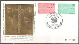 Andorre -- Enveloppe 1er Jour Datée Du 08/05/71,timbres 212/213,illustration Or Fin 24 Carats  (bon état) - FDC