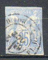 FRANCE - 1877-79 - Type Sage - N° 36 - 25 C. Outremer - (Oblitération : Cachet à Date (Place De La Bourse)) - Sage